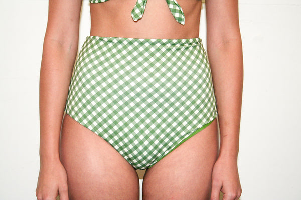 Katie 'High' Bottoms – Olive Gingham