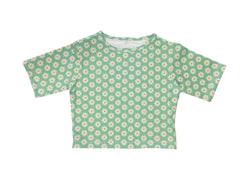 Cropped Rashie Top - Peppermint Daisy