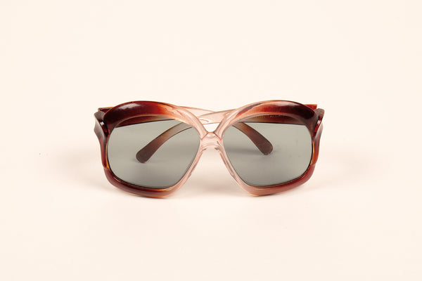 Brown Oversized 70s Style Sunnies