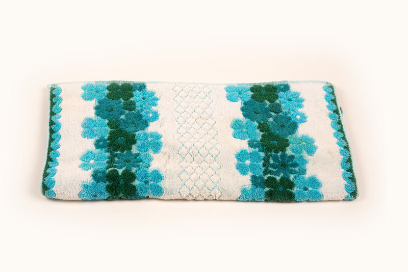 Shades of Blue Floral Towel