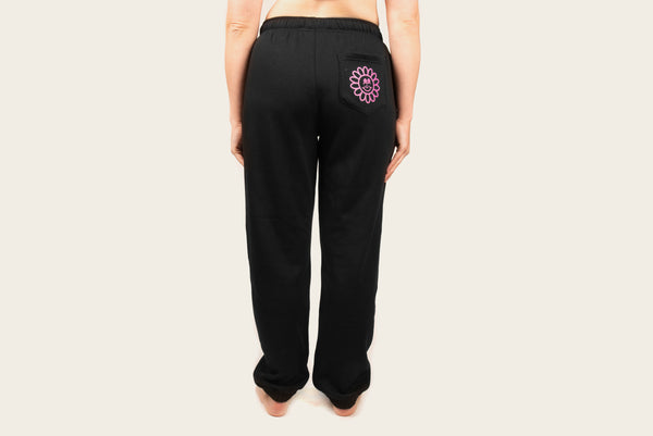 Daisy Face Track Pants Black