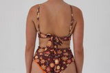 Zoe Top  - Chocolate Floral