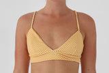 Zoe Top  - Golden Yellow Check