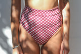 Cindy High Bottoms - Merlot Gingham