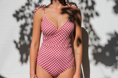 Frida Full Piece - Merlot Gingham
