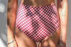 Katie 'High' Bottom – Merlot Gingham