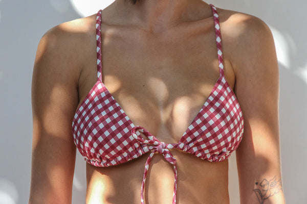 Lilly Top - Merlot Gingham