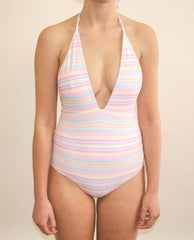Annie Full Piece - Rainbow Paddle Pop Stripe