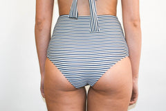 Katie Bottoms – Black and Olive Stripe