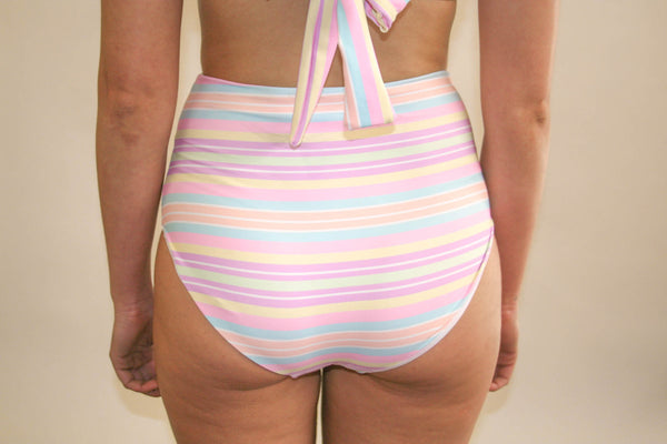 Abbie 'High' Bottom – Rainbow Paddle Pop Stripe