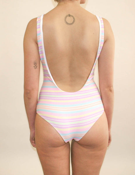 Ruby Full Piece - Rainbow Paddle Pop Stripe