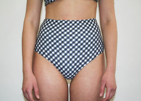 Abbie 'High' Bottom - Black Gingham