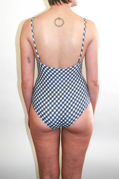 Frankie Full Piece - Black Gingham