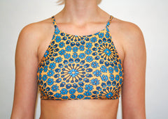 Ivy Cross Top - Golden Yellow Hippie Floral