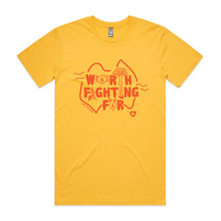 PRE-SALE Worth Fighting For Tee - Yellow