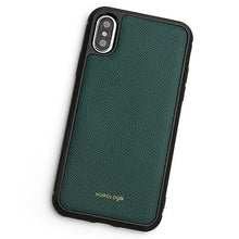 Load image into Gallery viewer, Green Soft Textured Leather iPhone XS Max Case
