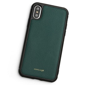 Green Soft Textured Leather iPhone XS Max Case
