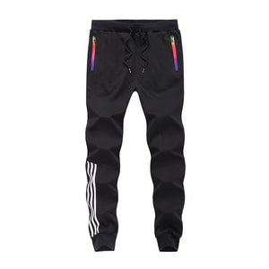 Gyms Set Men's Sportswear Autumn Winter Patchwork Zipper Sweatshirt Pants Sets Tracksuit Men Track Suit 2019 Survetement Homme