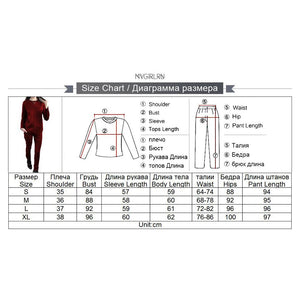 MVGIRLRU Women's Suede Suits Mid Line Tracksuit Long Sleeve Back Zip Pullover Tops+Pant 2 Piece Set