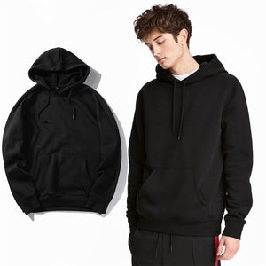 Solid Hoodie Coat Men Casual Hip Hop Street Wear Male Sweatshirts Skateboard 2019 Autumn Winter Fleece Sportsuit Tracksuit