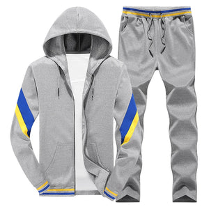 Tracksuit Men 2019 New Men's Spring Jogger Sportswear Set Suit Men Track Suits Hooded Hoodies Hip Hop Coat+Pants Outwear Coats