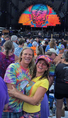 Oceania and Drew at a Grateful Dead concert