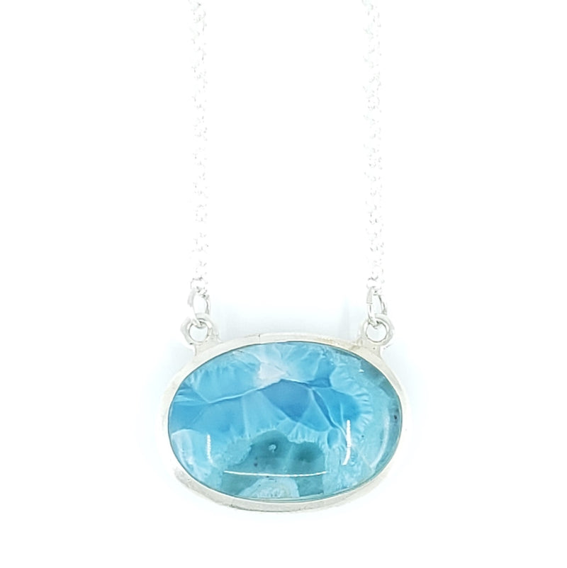 Larimar & Sterling Silver Necklace