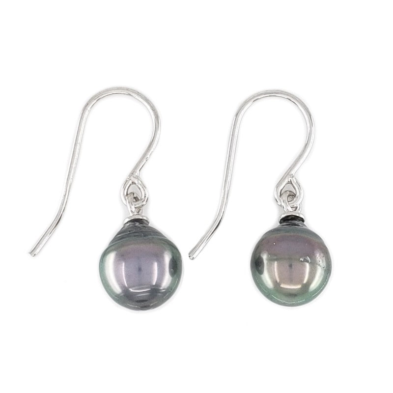 8mm Aubergine Tahitian Pearl Earrings