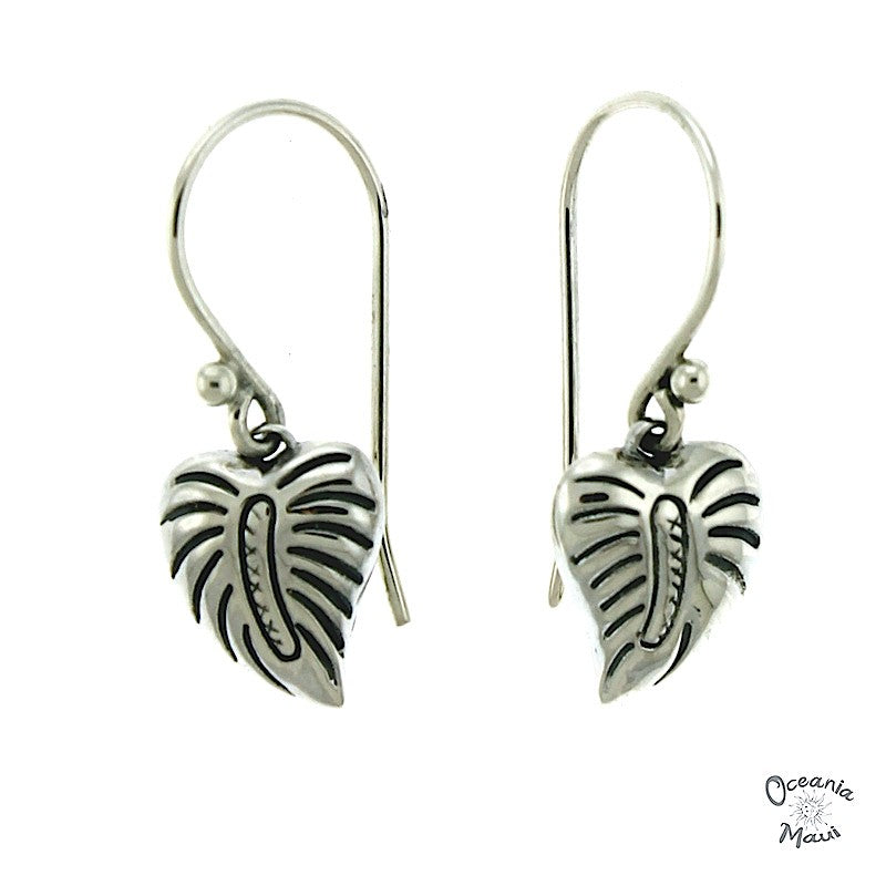 Small Sterling Silver Anthurium Earrings