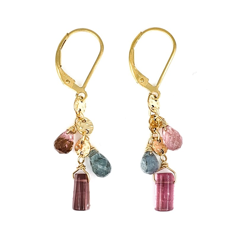 Tourmaline Gold Earrings