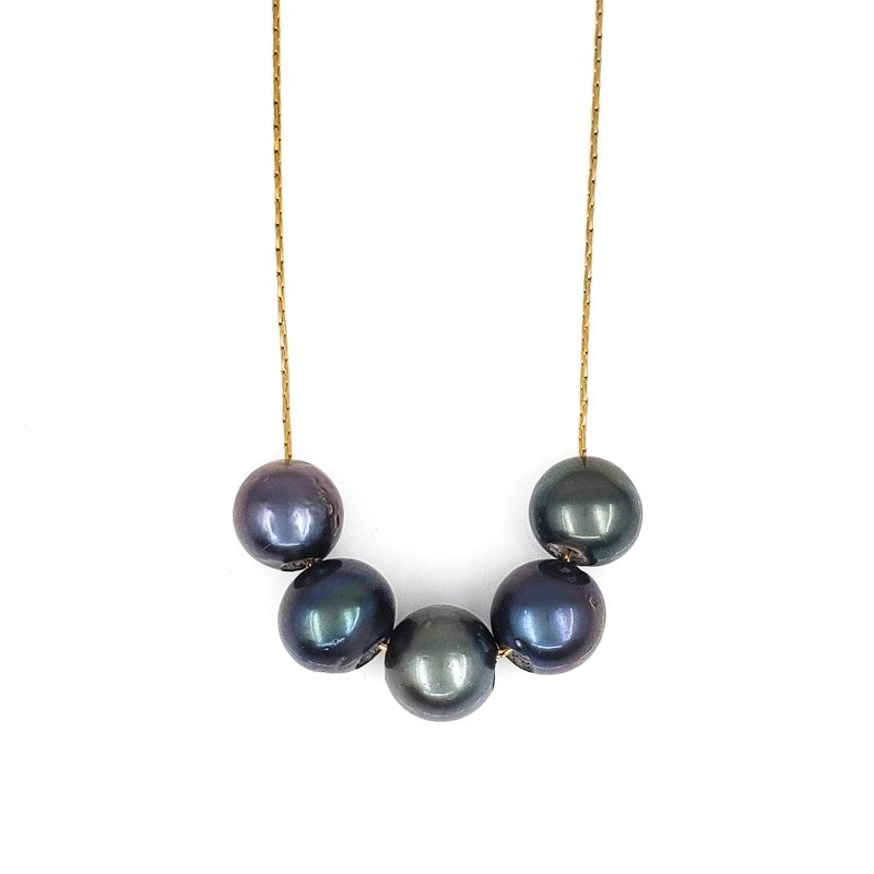 5 Tahitian Pearls Necklace