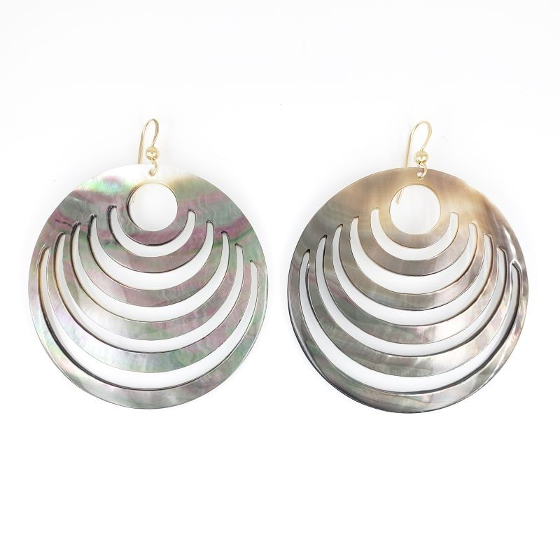 Large Tahitian Shell Earrings