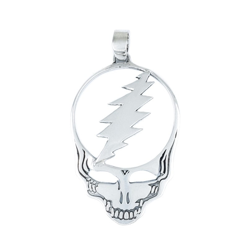 Sterling Silver Steal Your Face Pendant