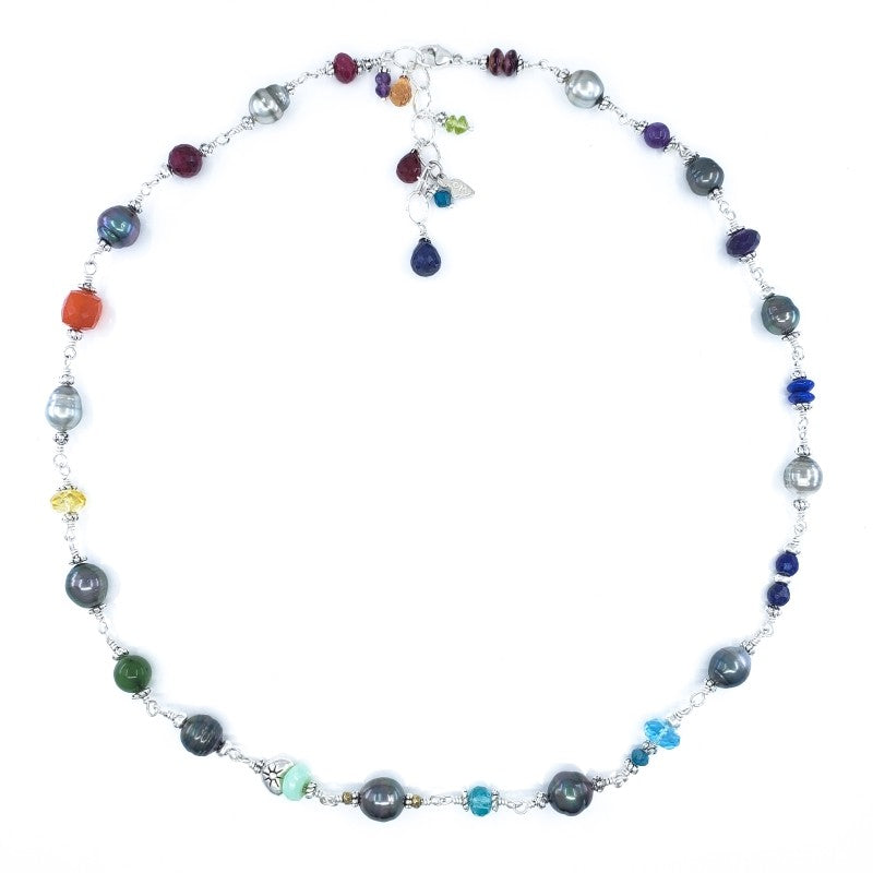 Anuenue Rainbow Tahitian Pearl Necklace