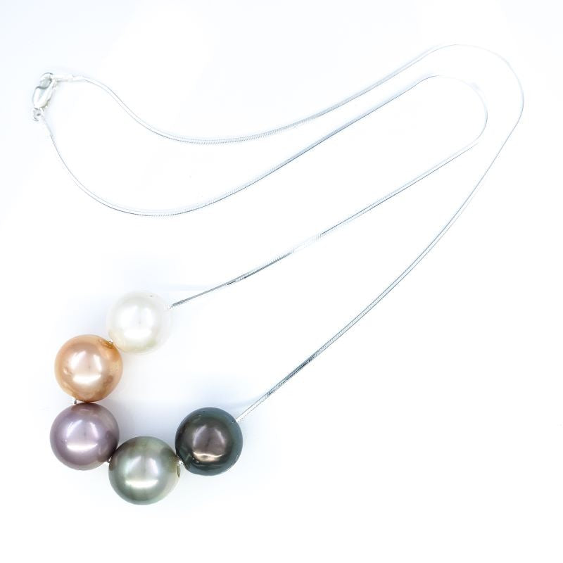 5 Tahitian & Edison Pearls Necklace
