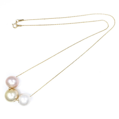 3 Edison & South Sea Pearls Necklace
