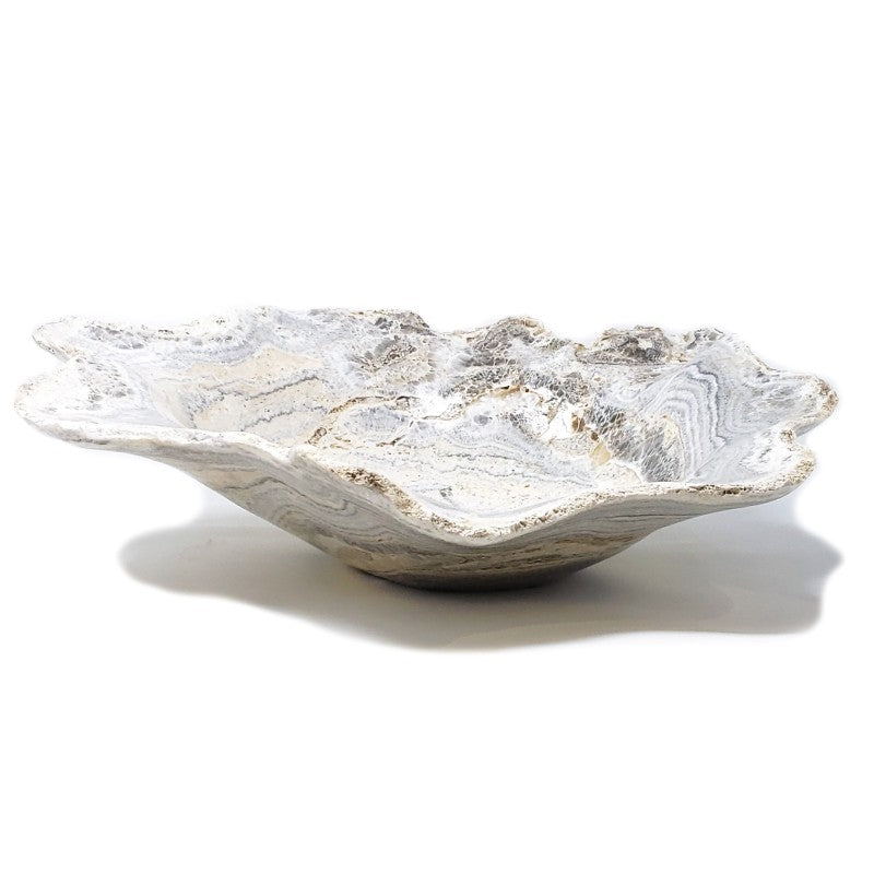 Large Fossilized Coral Bowl