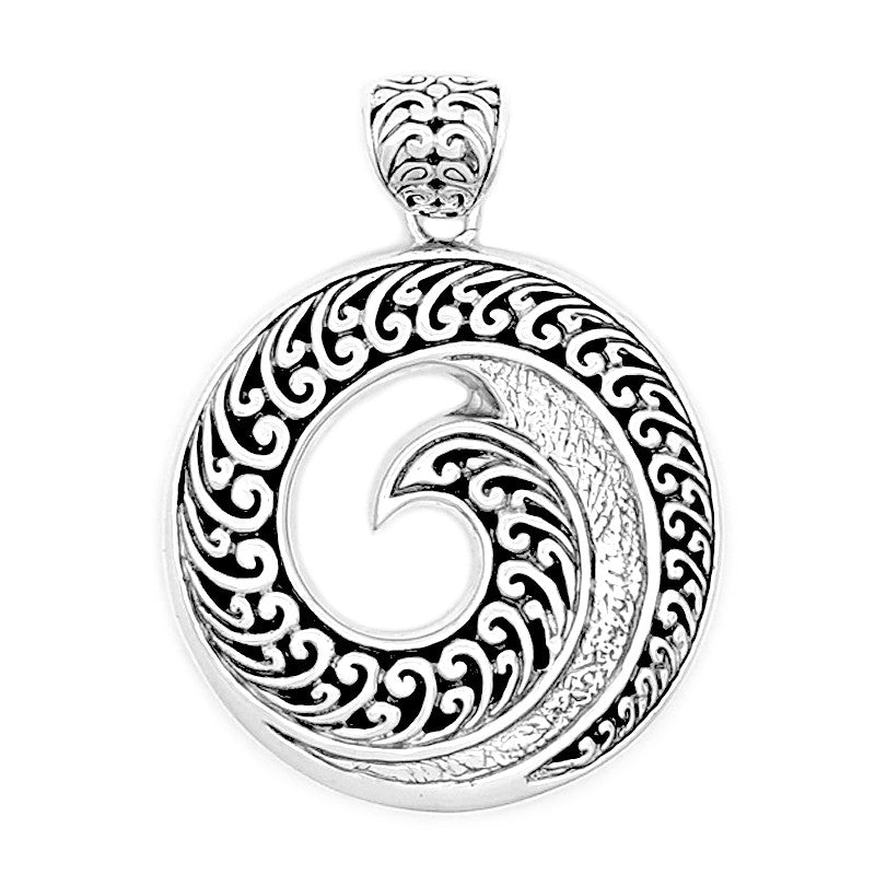 Large Ornate Maui Wave Pendant