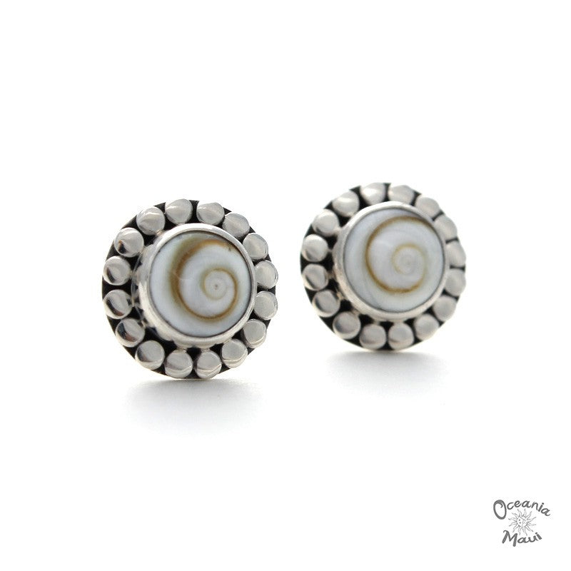 Small Round Cat's Eye Stud Earrings