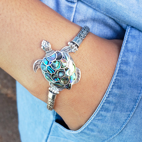 Fancy Turtle Bracelet with Abalone