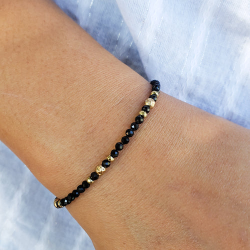 Black Spinel & Pyrite Bracelet