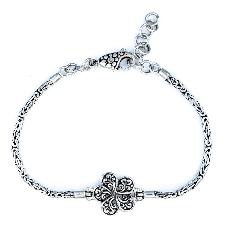 Small Ornate Plumeria Flower Bracelet