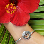 Ornate Sterling Silver Wave Bracelet