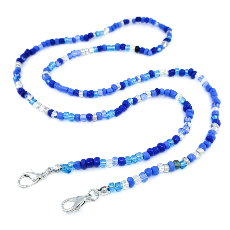 Blue Beaded Mask Chain