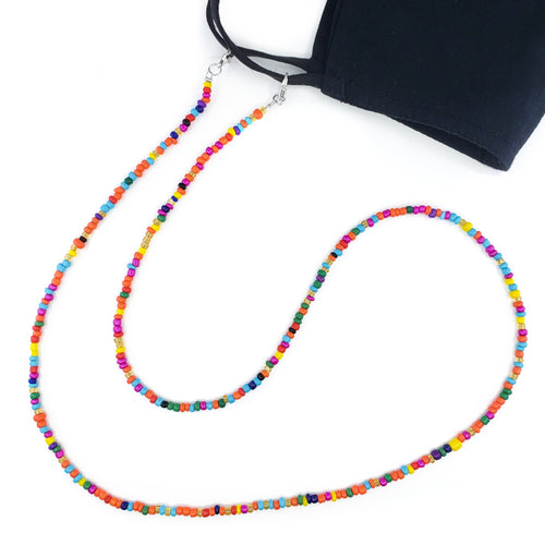 Multi Color Beaded Mask Chain