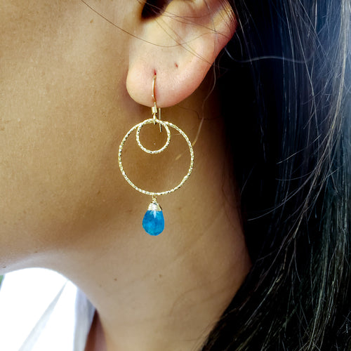Apatite Gold Earrings
