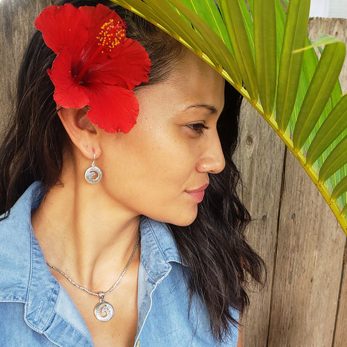 Ornate Maui Wave Earrings