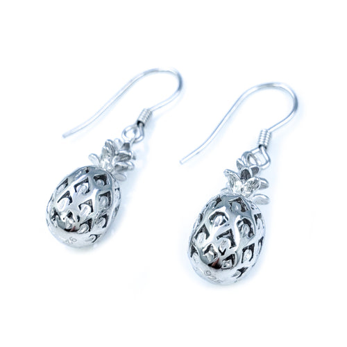 Small Sterling Silver Pineapple Earrings