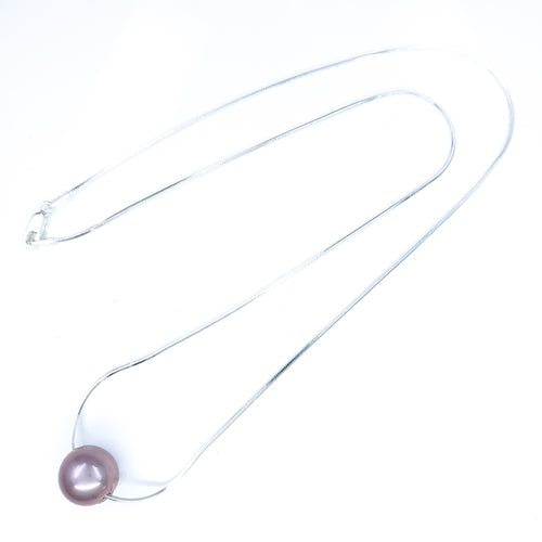 10mm Single Lavender Edison Pearl Solitaire Necklace