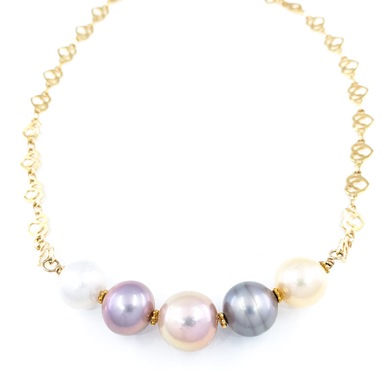 Tahitian & Edison Pearls Necklace